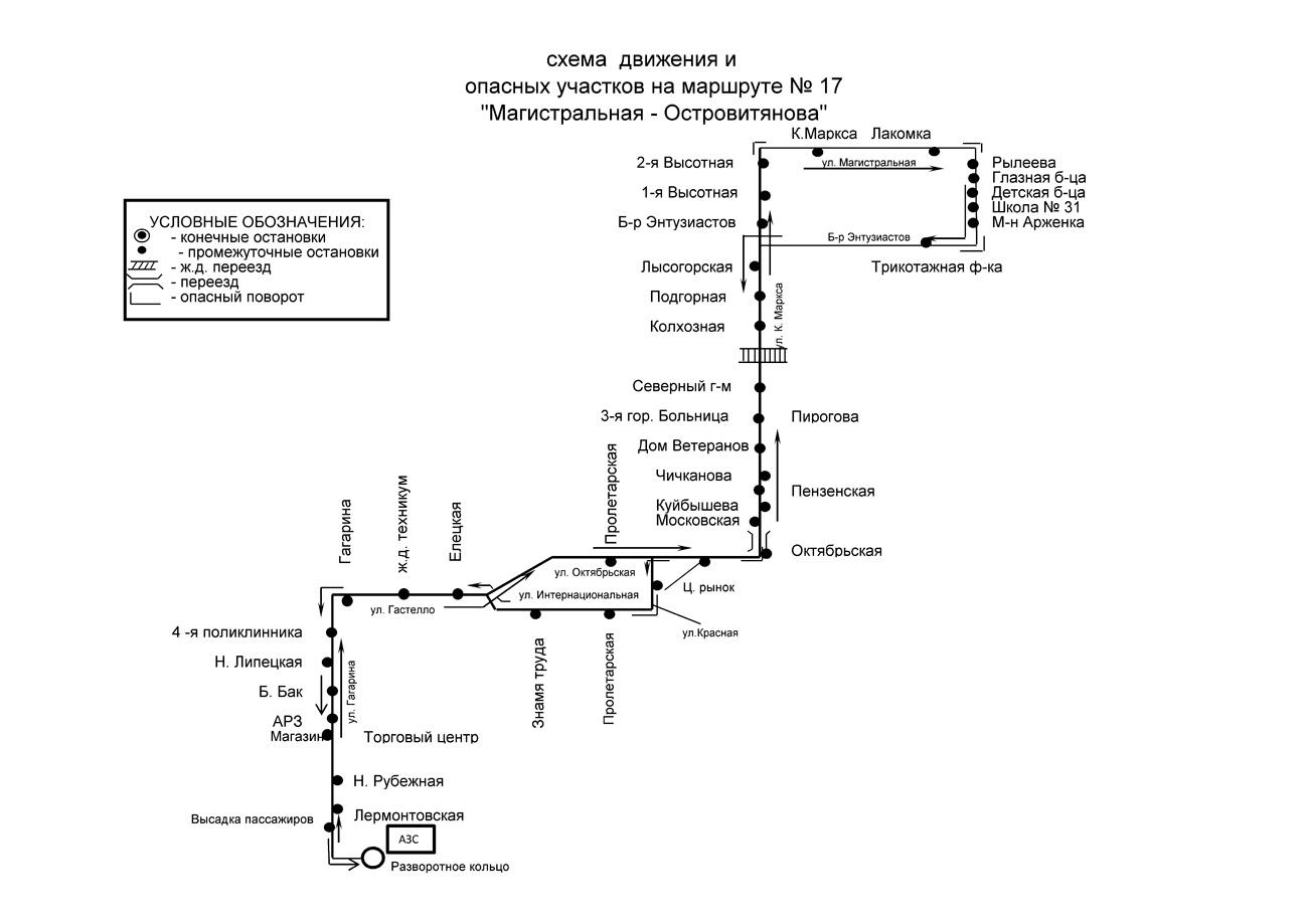 Тамбов схема маршрутов