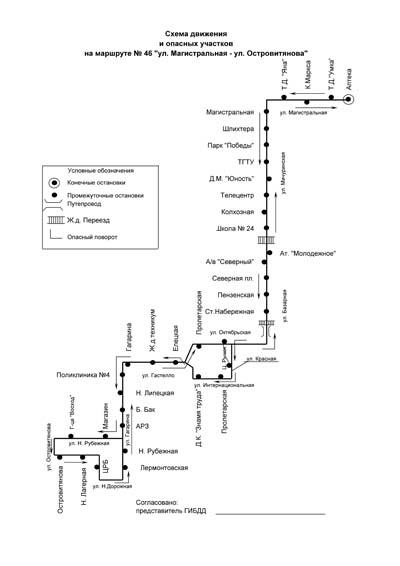Автобусный Маршрут №46